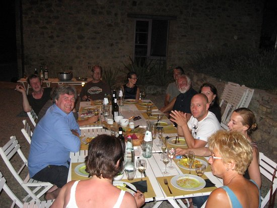 Podere le Olle: Dinner outside