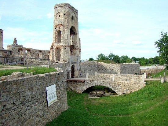 Krzyztopor Castle: Zamek Krzyżtopór - wjazd do zamku