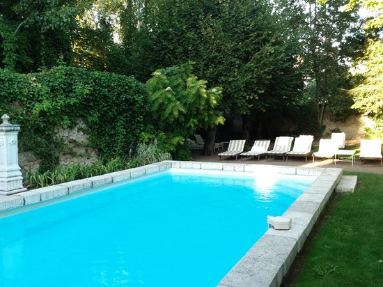 Hotel le Clos d'Amboise : Pool and lounges