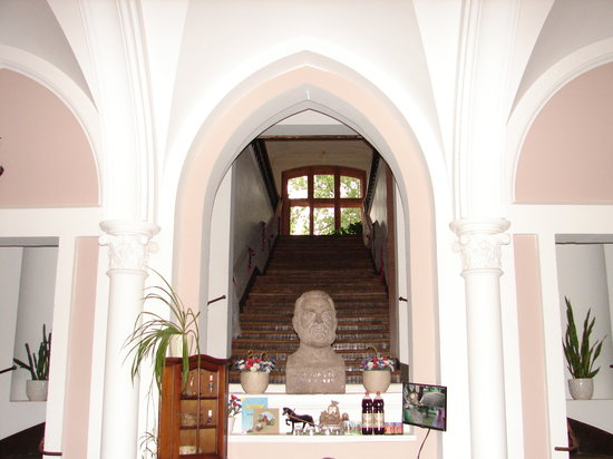 Sangaste Castle Hotel & Hostel: Stairs that lead to the rooms