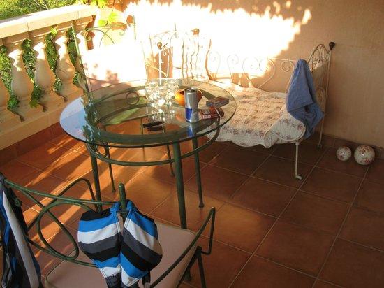 La Villa Rosalie : Unser eigener Balkon