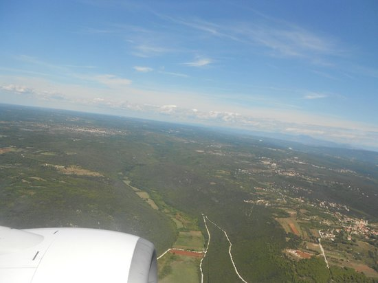 Miramar Hotel: View from the plane