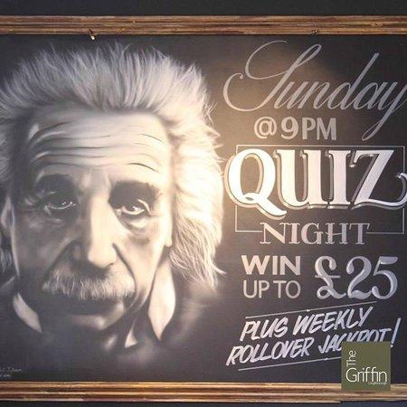 Quiz Night Every Sunday Foto Di The Griffin