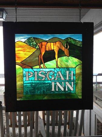 Pisgah Inn: Sign outside dining room