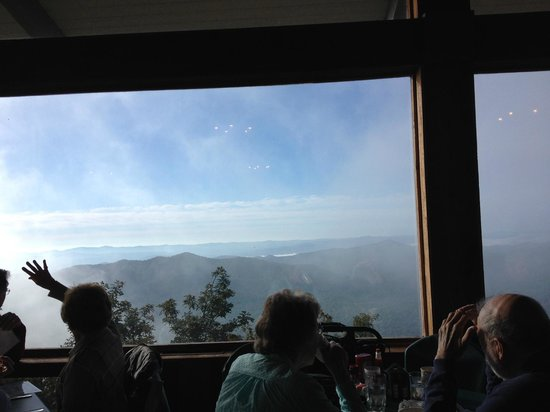 Pisgah Inn: View from on-site restaurant
