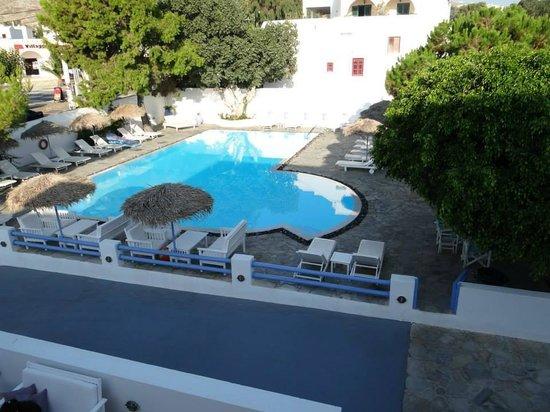 Acqua Vatos Santorini Hotel: La vista dalla prima camera
