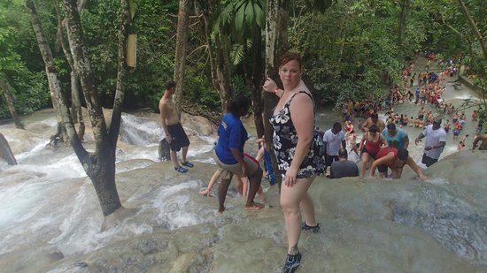Dunn's River Falls and Park: view from the top of the falls