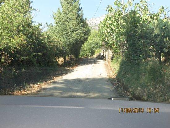 Giardino Donna Lavia: strada per il casale