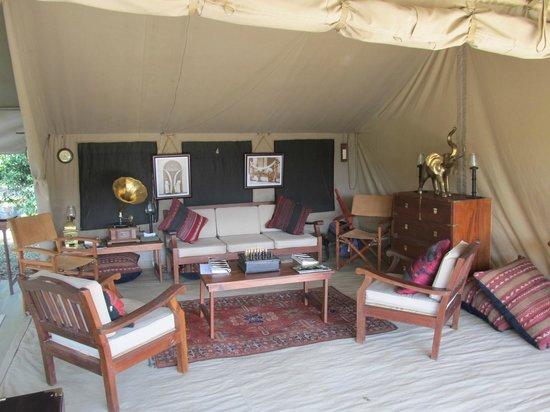 Sentinel Mara Camp: Living/gathering  Area