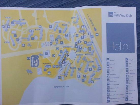 Map of Bellevue Picture of BelleVue Club Port dAlcudia TripAdvisor