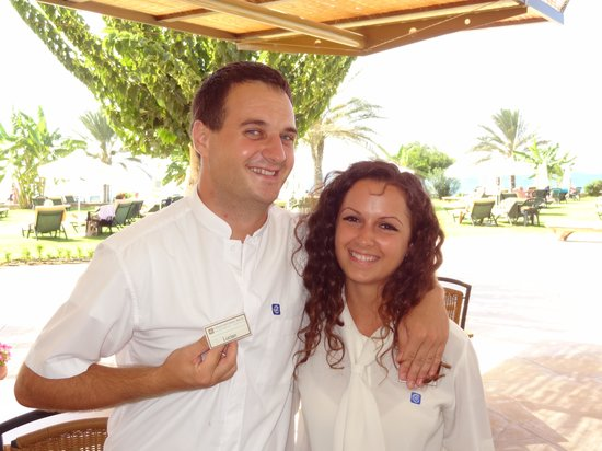 Constantinou Bros Athena Royal Beach Hotel: Best friends Sonia & Lucian