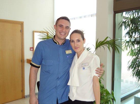 Constantinou Bros Athena Royal Beach Hotel: A lovely couple Josh & Adelina