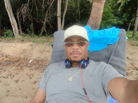 """Rincon Beach Resort: Relaxing on the """"private"""" section of beach"""