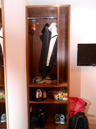 "Sheriff Hotel: Our ""closet"" and TV"