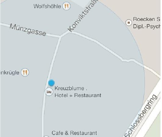 Hotel Kreuzblume: Location
