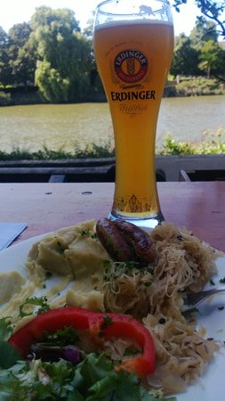 Stein's: Great German food and beer - in front of the Thames