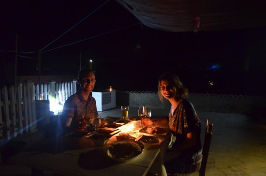 Pedlar62 Guest House : Romantic meal on the rooftop