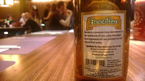 Busaba Eathai: Beerlao at Busaba