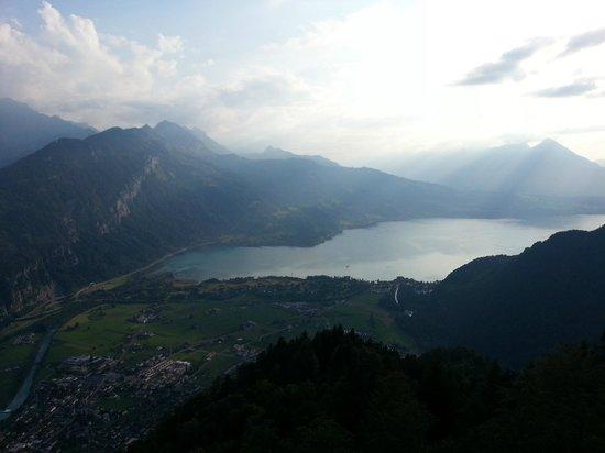 Hotel Du Lac: Lake Thun from Harder Kulm