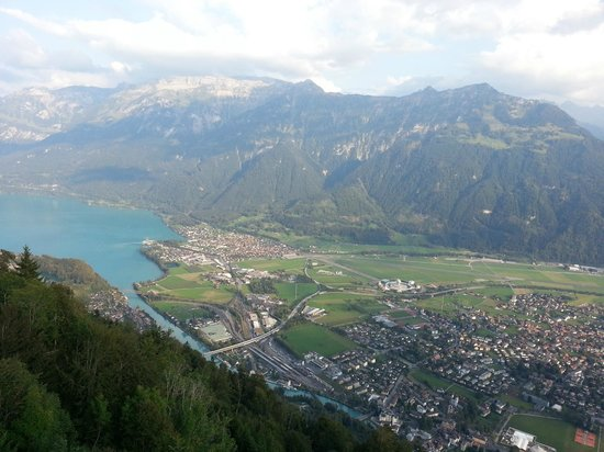 Hotel Du Lac: Interlaken and Lake Brienz from Harder Kulm