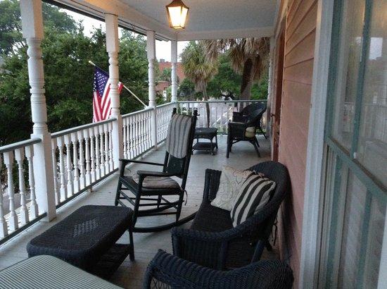 The Beaufort Inn: Our balcony
