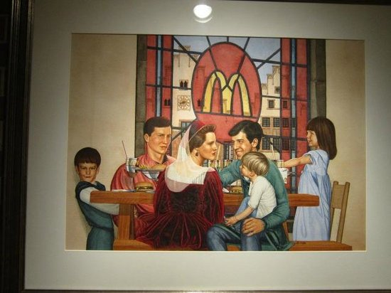 The Hyatt Lodge at McDonald's Campus: McDonald's art.