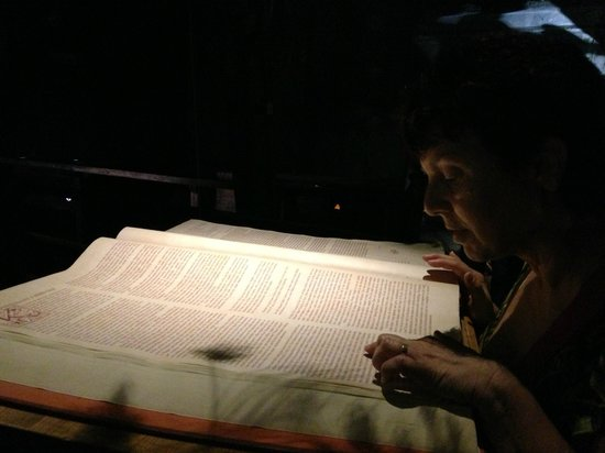 Museum of Alchemists and Magicians of Old Prague: In the attic at the museum- reading the magic books