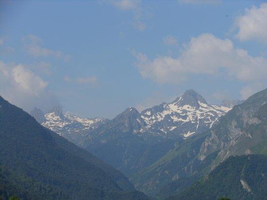 Camping Azun Nature : vue de notre tente au reveil