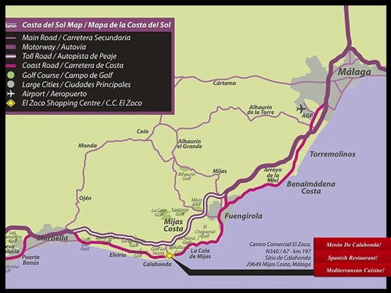Map Picture of Meson de Calahonda Sitio de Calahonda TripAdvisor