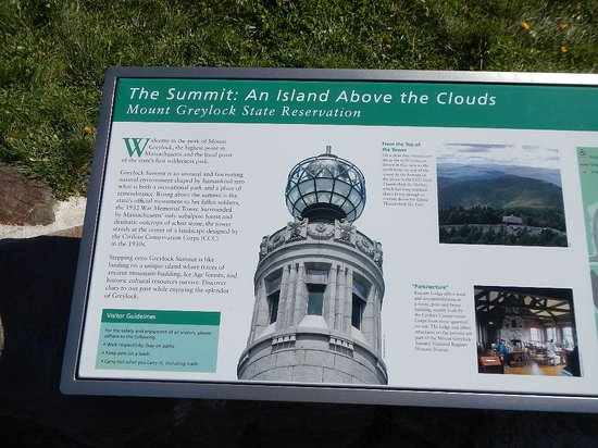 Mount Greylock State Reservation: Information on the memorial