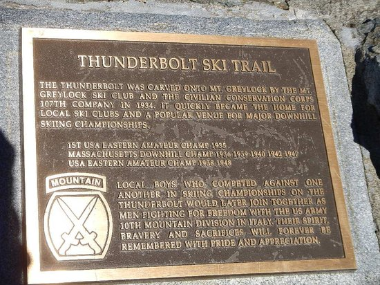 Mount Greylock State Reservation: Plaque US Army 10th Mountain Div-Italy