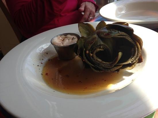 Sea Harvest Fish Market & Restaurant: fire roasted artichoke with sundried tomato remoulade sauce