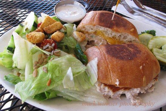Bill & Carol's Sea Shanty: Tuna and on grilled cheese