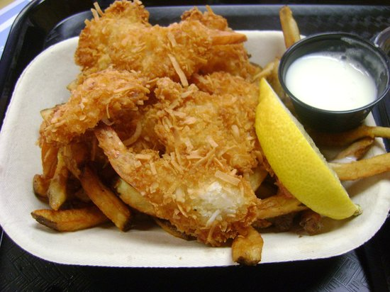 Fry Daddy's: Coconut Shrimp and fries