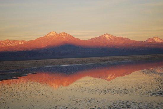 Atacama-Wüste: Sunset over the Atacama Desert