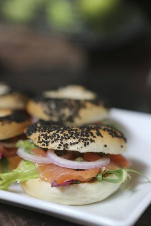 The Glasshouse Deli.Patisserie: Smoked Salmon Bagels...Yum!!
