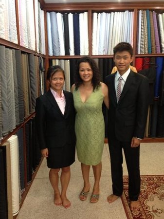 Don Mastertailor: Thai family customer from Germany