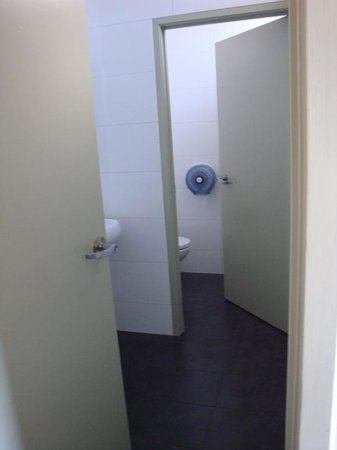 Base Rotorua: Toilet and sink area in room.