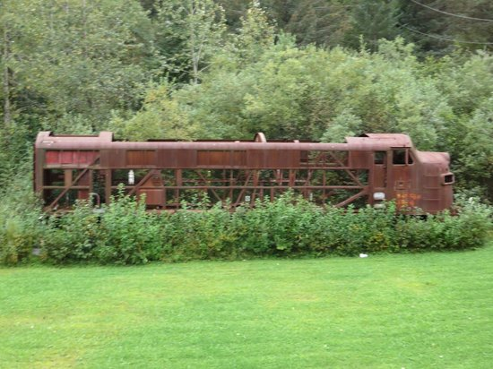 Kim's Forest Bed and Breakfast: Train in Back Yard - Ask About It