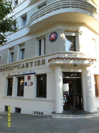 Hotel Restaurant Cartier: Restaurant/Hotel entrance