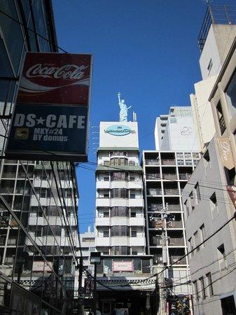 New Osaka Hotel Shinsaibashi: America Mura, right around the corner