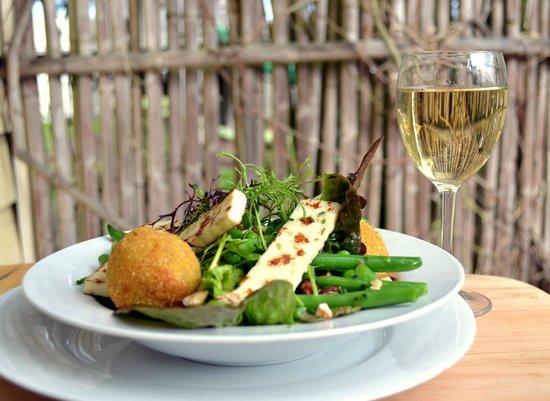 Riverside Cafe: locally made haloumi in a spring salad