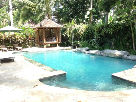 Taman Rahasia Tropical Sanctuary & Spa : The lovely pool. it's pretty deep and the water is rather cold!