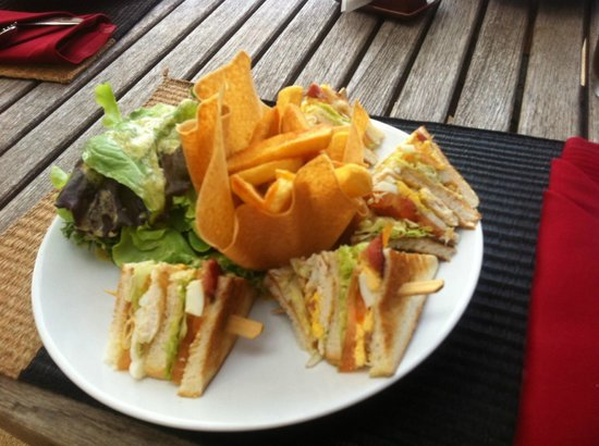 Belmond Napasai: Room service club sandwich
