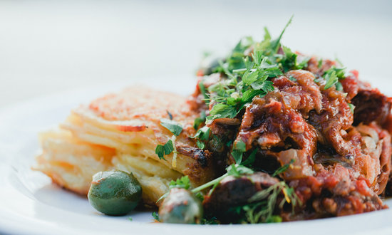 The Refreshment Room: Slow braised lamb with seasonal vegetables