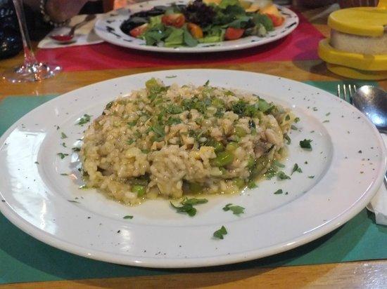 Salmon, asparagus and artichoke risotto - Nautilus Trattoria in Pernera 2013 Sept