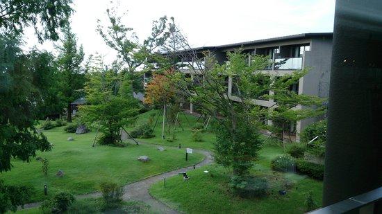 Hotel Harvest Nasu: 食事会場から見えた庭。