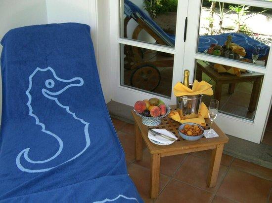 Seaside Grand Hotel Residencia: Zimmerterrasse