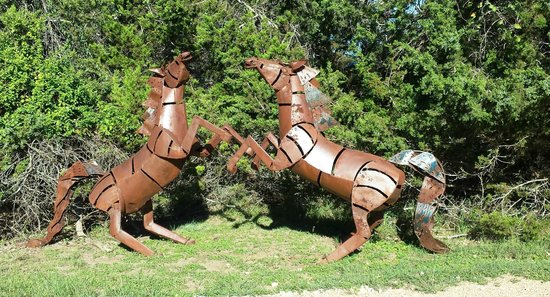 """Cypress Creek Cottages: Some of the """"yard art"""" around the cottages"""