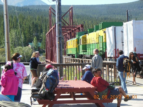 Carcross Railway Station: train on the station